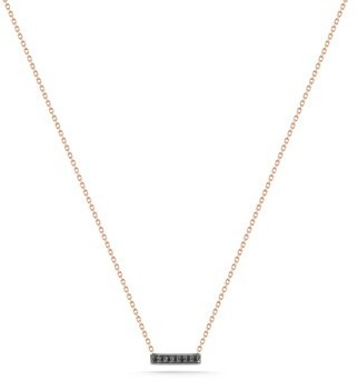 "Black Diamond Dana Rebecca ""Sylvie Rose"" Rose Gold and Necklace 16-inch"