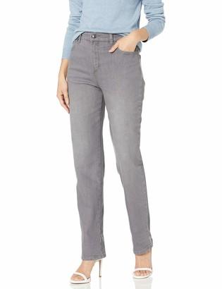 Gloria Vanderbilt Women's Petite Amanda Classic Tapered Jean gray 12P