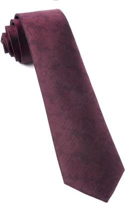 Tie Bar Refinado Floral Burgundy Tie