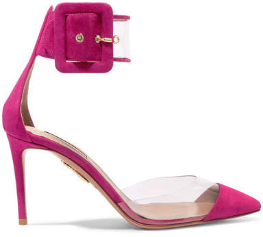 Aquazzura Seduction Pvc And Suede Pumps - Fuchsia