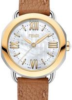 Fendi Two-Tone Yellow Gold Selleria Watch Head, 36mm