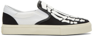 Amiri Black and White Skeleton Toe Slip-On Sneakers