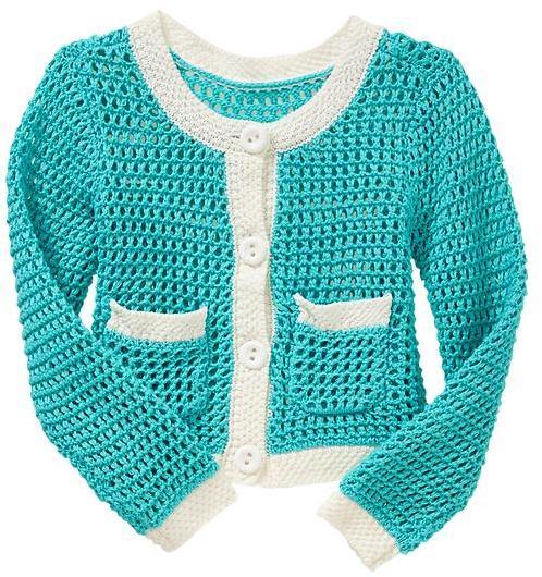 Gap Contrast open-knit cardigan