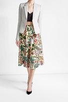 Philosophy di Lorenzo Serafini Printed Linen and Silk Skirt