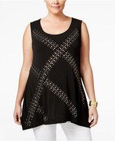 Belldini Plus Size Studded Sleeveless Top