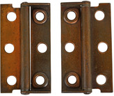 Rejuvenation Pair of Copper Plated Trunk Hinges