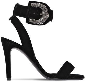 Etro 95mm Buckled Viscose Velvet Sandals