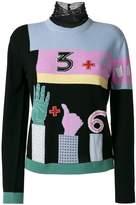 Valentino counting intarsia jumper