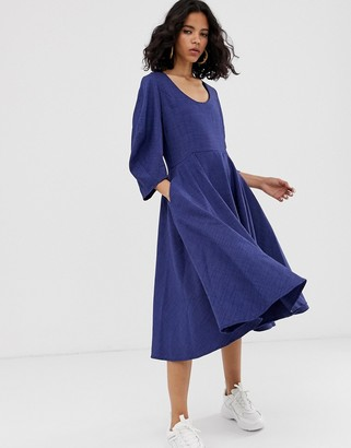 Asos u-neck midi dress