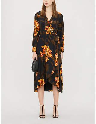 Ted Baker Floral-print silk-crepe midi dress