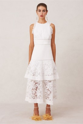 Keepsake DALLIANCE MIDI DRESS porcelain