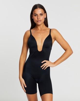 Spanx Suit Your Fancy Plunge Low-Back Mid-Thigh Bodysuit
