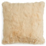 "Adrienne Landau Rabbit Fur Decorative Pillow, 20"" x 20"""