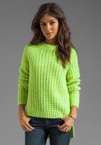 Tibi Waffle Knit Asymmetrical Sweater
