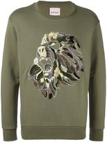Palm Angels embroidered lion sweatshirt