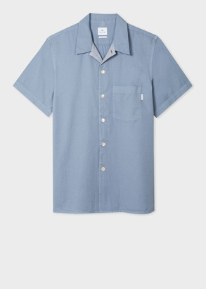Men's Classic-Fit Sky Blue Short-Sleeve Shirt