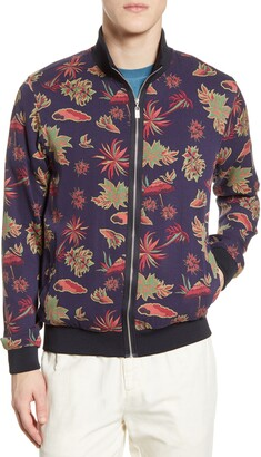 Scotch /& Soda Mens Chic Bomber Jacket with All-Over Leaf Pattern 142310