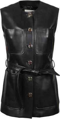 Gucci Tie-waist Sleeveless Jacket