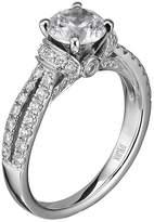 "Scott Kay Radiance"" Semi Mount Diamond Engagement Ring Palladium (5/8 cttw)"