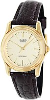 Casio Women's Classic MTP1096Q-9A Brown Leather Quartz Watch with Dial