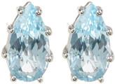 Suzanne Kalan 14K White Gold Teardrop Blue Topaz Stud Earrings