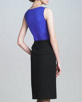 Carolina Herrera Drape-Skirt Combo Dress