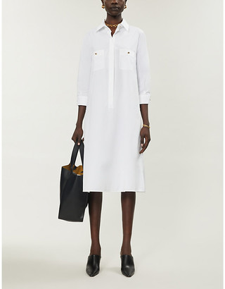 Max Mara Buttoned woven midi dress