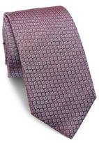 HUGO BOSS Geometric Printed Silk Tie
