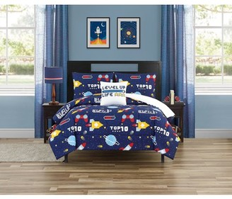Beco Home Gaming Universe 4 Piece Comforter Set with decor pillow Full