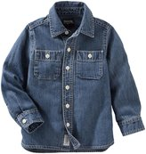 Osh Kosh Casual Shirt (Toddler/Kid) - Denim - 3T