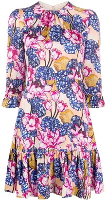 Mary Katrantzou Millais floral-print mini dress