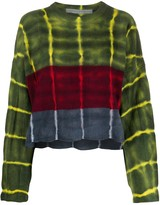 Raquel Allegra long sleeve stripe dye boxy sweater