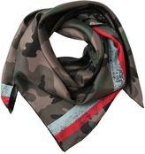 Valentino Camouflage Twill Silk Foulard