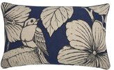 Thomas Paul FX-0232-IND Indigo Hibiscus Pillow, 20 by 12-Inch