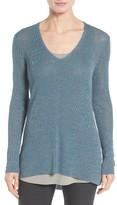 Eileen Fisher Women's Organic Linen Blend V-Neck Sweater