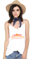 Wildfox Couture Golden State Backseat Tank In Clean White