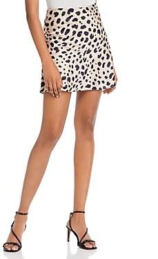 Aqua Leopard Print Mini Skirt - 100% Exclusive