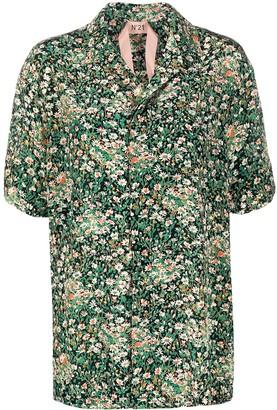 No.21 Short Sleeved Floral Print Shirt