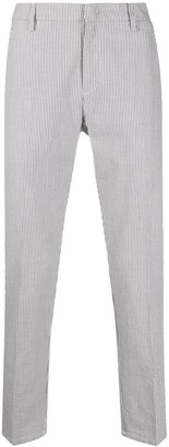 Dondup Cropped Striped Print Chinos