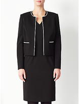 John Lewis Blair Contrast Trim Jacket, Black/Cream