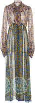 Anna Sui Floral Symphony Chiffon Dress