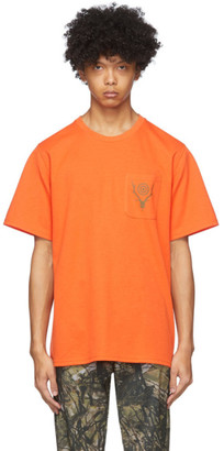 South2 West8 Orange Round Pocket T-Shirt