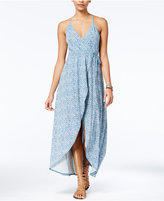 Volcom Juniors' Beckon Me Wrap-Front Maxi Dress