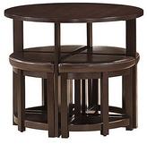 Baxton Studio Dark Brown Five-Piece Rochester Modern Bar Table Set
