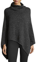 Joie Haesel C Speckled Cashmere Poncho, Dark Heather Gray
