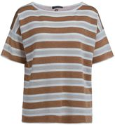 Twin-Set Twinset Half Sleeves In Lurex Fabric With Stripes
