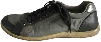 Prada Anthracite Polyester Trainers