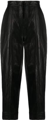 Pinko high-waist faux leather trousers