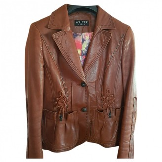 Walter Steiger Brown Leather Leather jackets