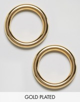 Gogo Philip Gold Plated Hoop Earrings